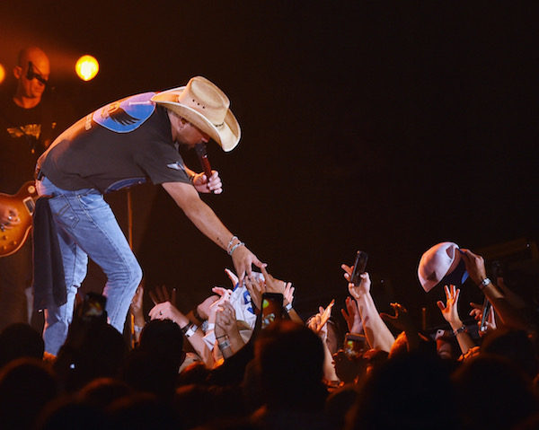 MACON, GA - AUGUST 11: Jason performs during Jason Aldean's 2nd Annual Concert For The Kids, Benefiting Children's Hospital Navicent Health of Bibb County, Raising over 700 thousand dollars at Macon Centreplex on August 11, 2017 in Macon, Georgia.  (Photo by Rick Diamond/Getty Images)