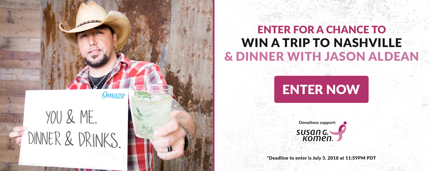 Get Dinner with Jason Aldean in Nashville
