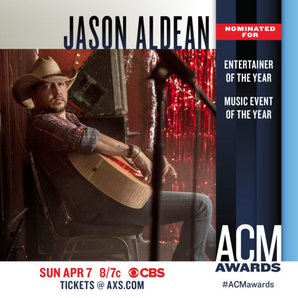 JASON NOMINATED FOR TWO ACM AWARDS