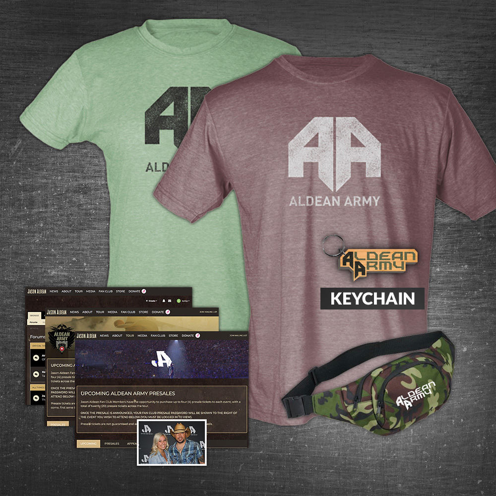 Aldean Army Deluxe Benefits Package