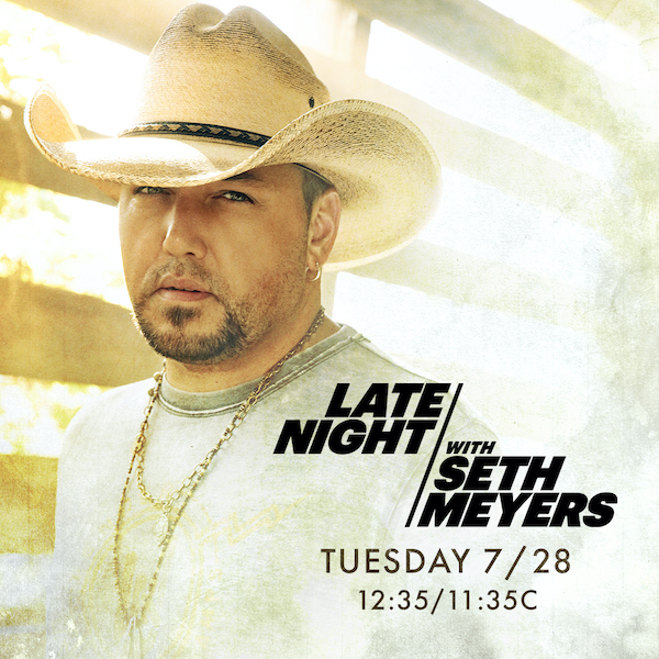 TUNE IN TONIGHT TO SEE JASON PERFORM ON LATE NIGHT WITH SETH MEYERS