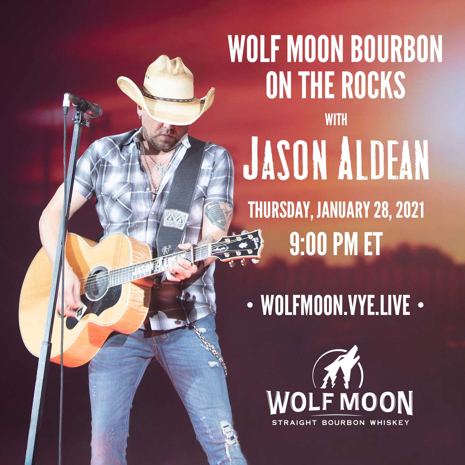 WOLF MOON BOURBON PRESENTS A SPECIAL ONE NIGHT PERFORMANCE WITH JASON ALDEAN