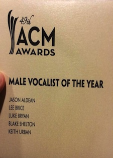 Jason Wins ACM Male Vocalist of the Year