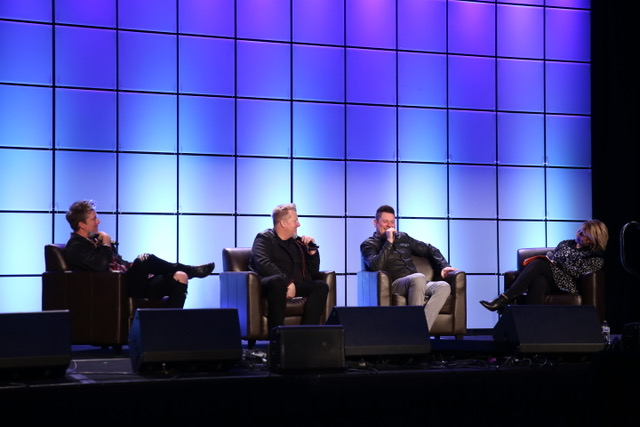 """CMA CEO Sarah Trahern in conversation with Rascal Flatts for """"Rascal Flatts: 20 Years of Country Radio Success"""" on the first day of CRS 2020 at the Omni Hotel in Downtown Nashville on Wednesday, February 19."""