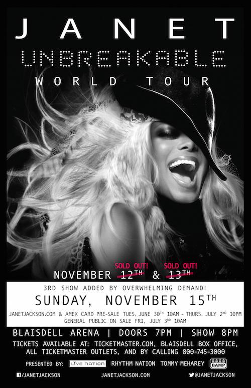 JANET JACKSON'S UNBREAKABLE WORLD TOUR HAWAII
