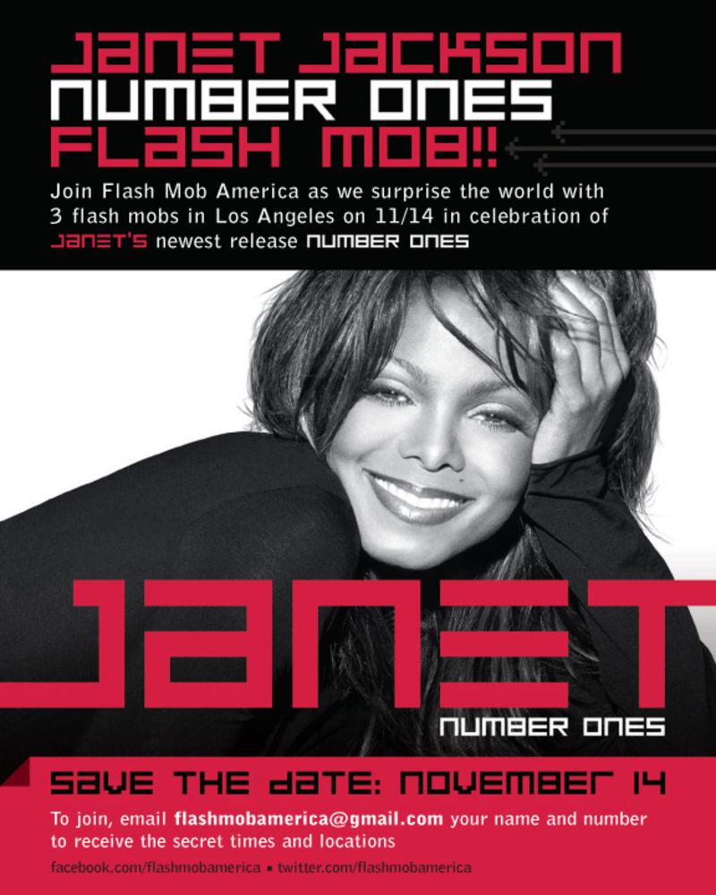 Janet Number Ones Flash Mob Flyer
