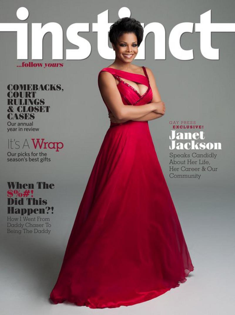 INSTINCT MAGAZINE'S NATIONAL GAY PRESS EXCLUSIVE WITH JANET JACKSON!