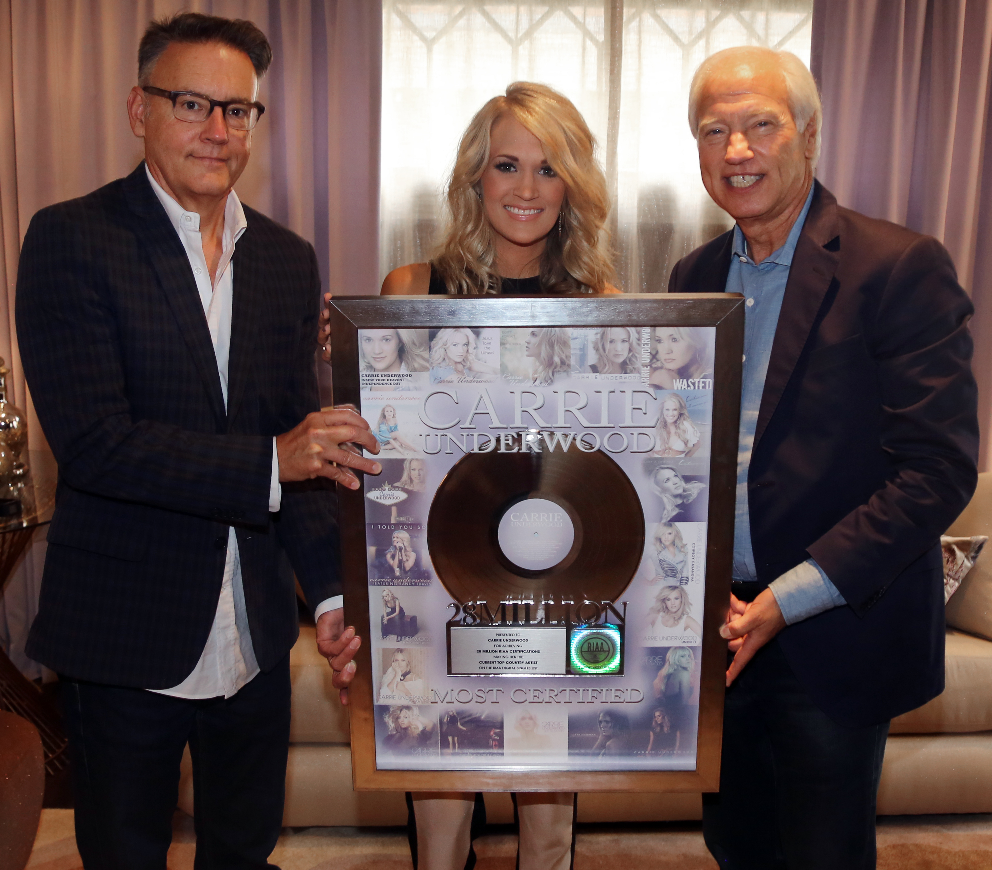 Carrie Underwood Mines Precious Metal To Become The Current Top